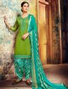 image of Embroidered Designer Patiala Suit In Fancy Chanderi Silk With Fancy Dupatta