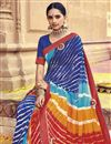 photo of Georgette Bandhani Print Style Fancy Saree In Multi Color