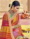 photo of Bandhej Print Fancy Saree In Multi Color Georgette Fabric