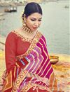 photo of Multi Color Badhani Style Fancy Print Saree In Georgette