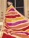 photo of Badhani Style Fancy Print Saree In Multi Color