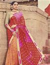 image of Bandhej Print Multi Color Fancy Saree In Georgette