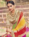 photo of Bandhani Print Georgette Fancy Saree In Multi Color