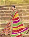 image of Bandhani Print Georgette Fancy Saree In Multi Color