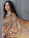 photo of Art Silk Rust Color Digital Print Ethnic Wear Saree With Blouse