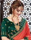 photo of Embroidery Work On Occasion Wear Saree In Chiffon Fabric With Designer Blouse