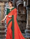 image of Embroidery Work On Occasion Wear Saree In Chiffon Fabric With Designer Blouse