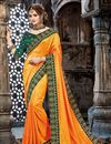 image of Mustard Designer Embroidered Saree In Chiffon With Attractive Blouse