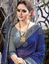 photo of Chiffon And Net Fabric Grey Wedding Wear Saree With Embroidery Work And Gorgeous Blouse