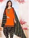 image of Fancy Party Wear Fancy Cotton Patiala Salwar Suit With Embroidery Work