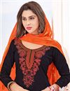 photo of Embroidered Fancy Cotton Patiala Salwar Kameez With Embroidery Work