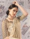 photo of Printed Beige Fancy Saree In Art Silk Fabric