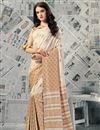 image of Chikoo Art Silk Casual Wear Printed Saree