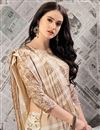 photo of Printed Chikoo Office Wear Art Silk Saree With Blouse