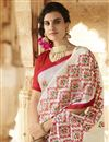 photo of Wedding Special Embroidery Work On Off White Function Wear Saree In Art Silk
