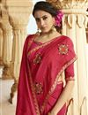 photo of Wedding Special Function Wear Crimson Color Embroidered Saree In Art Silk With Blouse