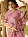 photo of Pink Art Silk Embroidered Party Style Designer Saree