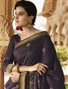photo of Wedding Special Emboirdery Work On Designer Wine Color Art Silk Party Wear Saree