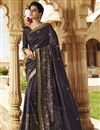 image of Wedding Special Emboirdery Work On Designer Wine Color Art Silk Party Wear Saree