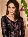 photo of Designer Cotton Fabric Black Fancy Embellished Palazzo Dress