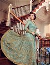 photo of Light Cyan Net Function Wear Embroidered Anarkali Suit