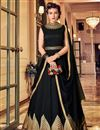 image of Best Selling Party Wear Embroidered Anarkali Suit In Banglori Silk Fabric