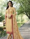 image of Festive Special Prachi Desai Georgette Straight Cut Cream Dress With Embroidery