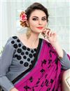 photo of Function Wear Grey Uppada Silk Fabric Designer Fancy Embellished Dress