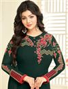 photo of Festive Special Ayesha Takia Georgette Straight Cut Dress With Embroidery Designs In Dark Green