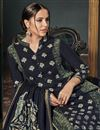 photo of Office Wear Straight Cut Salwar Kameez In Black  Art Silk Fabric