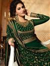 picture of Georgette Dark Green Embroidered Occasion Wear Gorgeous Floor Length Anarkali Dress