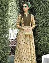 image of Regular Wear Cream Printed Kurti In Rayon Fabric