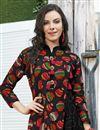 photo of Daily Wear Black Printed Kurti In Rayon Fabric