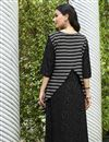 photo of Black Color Regular Wear Kurti In Rayon Fabric