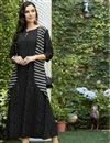 image of Black Rayon Designer Kurti With Print Designs