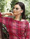 photo of Crimson Color Designer Kurti In Rayon Fabric