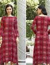 image of Crimson Color Designer Kurti In Rayon Fabric