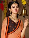 photo of Georgette Casual Wear Printed Saree In Orange