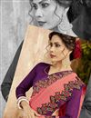 photo of Embroidered Party Wear Fancy Saree In Pink Georgette