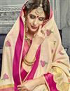 photo of Chikoo Color Party Wear Cotton Silk Embroidered Fancy Saree