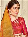 photo of Mustard Banarasi Silk Saree With Jacquard Work And Beautiful Blouse