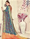 photo of Jacquard Work On Sky Blue Banarasi Silk Festive Wear Saree With Designer Blouse
