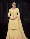 image of Embroidery Work Viscose Fabric Function Wear Palazzo Suit