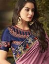 photo of Pink Art Silk Festive Wear Saree With Embroidery Work And Attractive Blouse