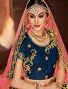 photo of Wedding Wear Fancy Embellished Satin Silk Navy Blue Designer Lehenga