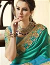 photo of Incredible Embroidery On Art Silk Cream Party Wear Saree