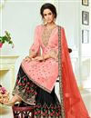 photo of Festive Wear Embroidered Art Silk Fancy Pink Color Palazzo Dress