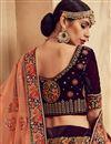 photo of Sangeet Wear Velvet Fabric Designer Embellished Lehenga In Wine Color