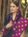 photo of Function Wear Black Weaving Work Saree In Chanderi
