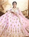 photo of Pink Color Art Silk Fabric Reception Wear Lehenga Choli With Embroidery Work